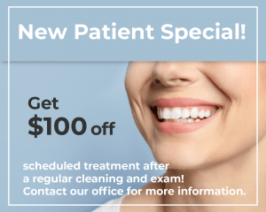 Get $100 off new patient special
